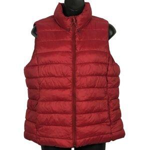 GAP Women Puffer Zip Up Vest Jacket